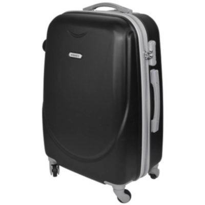 The Marco Super Space Luggage Bag is a hardcover ABS travel bag with rotatable wheels and a retractable alumnium handle. With one large main zippered compartment lined with 210D, a smaller zip compartment. On display is a top and side carry handle and a combination lock