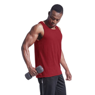 The 160g Mens Vest is made from polycotton with tonal binding around the armholes and neckline.