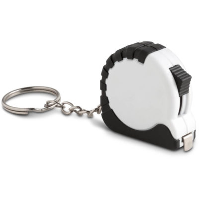 The Surveyor Tape Measure Keyholder is made from ABS plastic with a keyring chain attached.