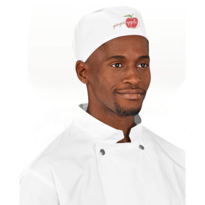 The Avallon Chef Beanie is made from 195g/m² 65% polyester, 35% cotton.