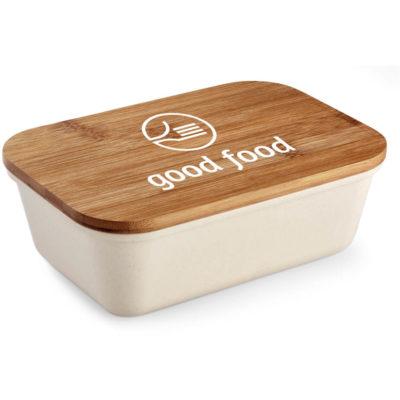 The Kooshty Natura Bamboo Fibre Lunch Box is made from 50% bamboo fiber and 50% BPA-free melamine.