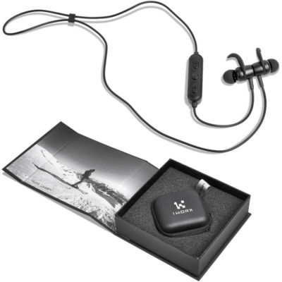 The Swiss Cougar San Diego Bluetooth Sports Earbuds comes with a protective compact EVA zippered case. The earphones comes packed inside a gift box.