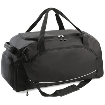 The Classic Cargo Duffel Bag is made from 600 denier in the colour black with a adjustable and removable shoulder strap.
