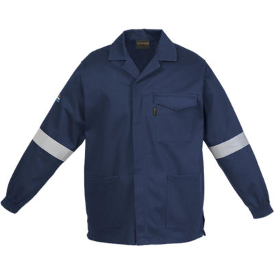 The Barron D59 Jacket in navy is made from 300g of 100% Cotton with a acid and flame retardant finish