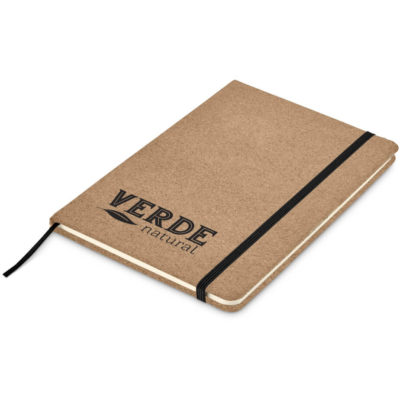 The Okiyo Sakura Cork A5 Notebook has 160 lined pages with a cork cover and a black elastic closure with a matching ribbon bookmarker.