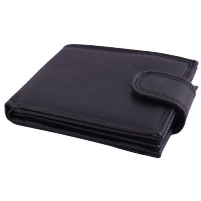 The Streamline Wallet made from PU material, in the colour black with a clip open closure.