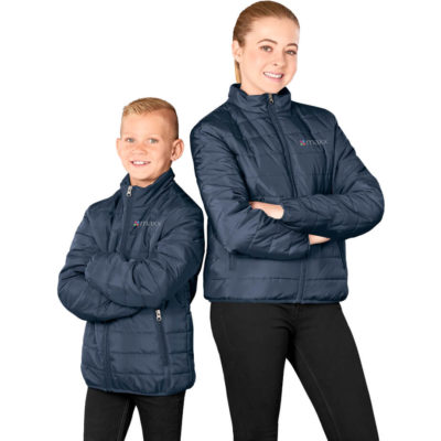 The Kids Hudson Jacket is made from 100% polyester 40D, 210T lining, polyester wadding fully padded quilted jacket