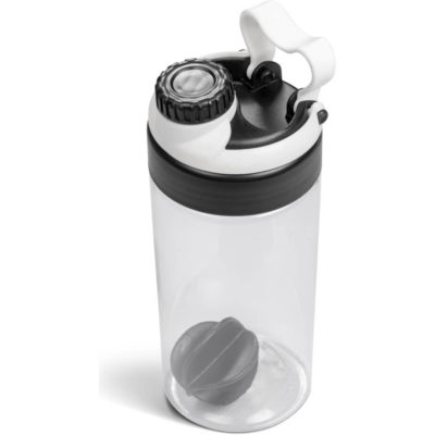 The Gianna Water Bottle Protein Shaker in white is made from tritan with a 600ml capacity.