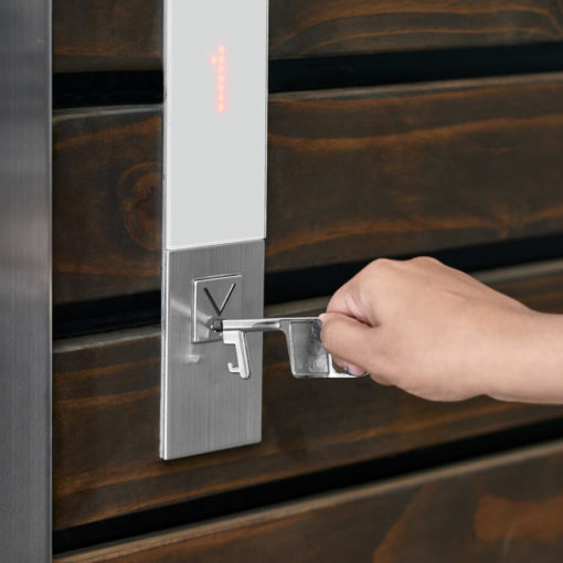The Trayce Touch-Free Stylus Keyholder is a stainless steel tool with a soft rubber stylus that can be used to touch ATMs, elevator buttoins or touch screens while the metal hook allows you to open doors, and has a bottle opener on the end with a split ring keyholder on the other to attach to your keys