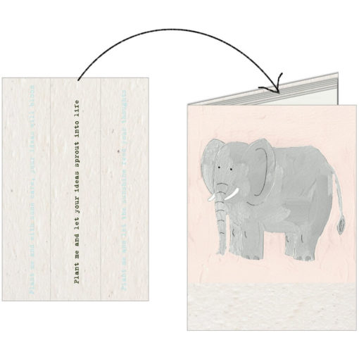 The Plantable Paper Notebook is a 20 pages notebook made from 100% recycled paper and has 4 pages of seed paper to tear out and plant