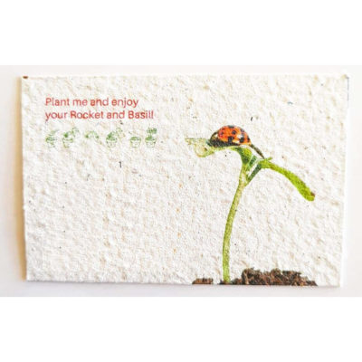 The Plantable Paper Business Cards is made from 100% recycled paper and contains seeds, that can be planted after use to grow your own garden