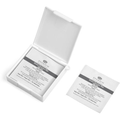 The Eva & Elm Cadoc Mini Sanitiser Pads is a personal care set that includes 10 x small alcohol based wet wipes in an easy to open foil pouch and is packaged in a plain white brandable PP case