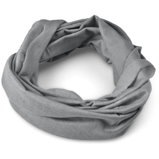 The Flexi Tubular Bandana is a grey lightweight 120gsm polyester headwear item. It's seamless with wind-resistant, breathable and quick drying qualities