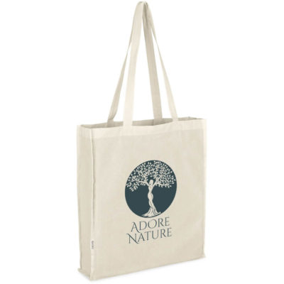 The Okiyo Ookii Cotton Shopper is a 100% cotton shopper bag with side gussets, base panels and lengthy shoulder cords for easy carrying