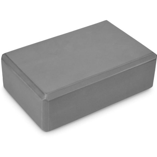 The Vivacity Yoga Block is a rectasngular grey block designed to help fitness and tone you up