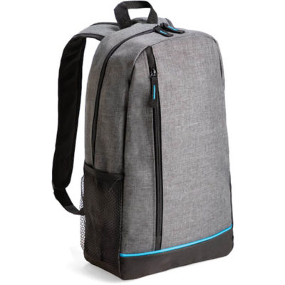 The First Choice Backpack is made from 600 denier with a main zip compartment, carry handle, front zip and a side mesh pocket.