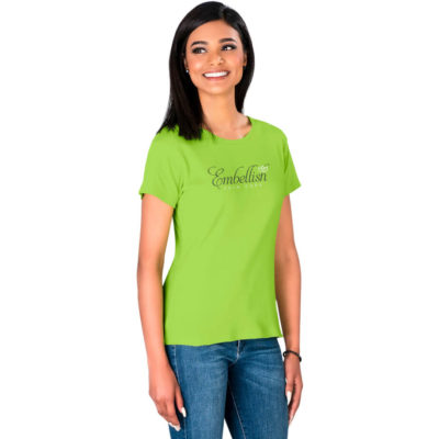The Ladies California T-Shirt is made from 200 g/m2 100% cotton 1x1 rib knit material and comes in different colours and sizes.