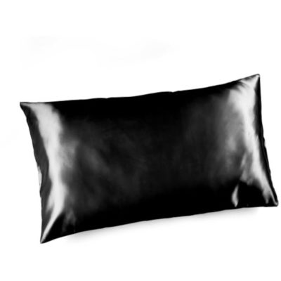 The Satin Pillowcase is a black 100% royal stain standard size pillow case