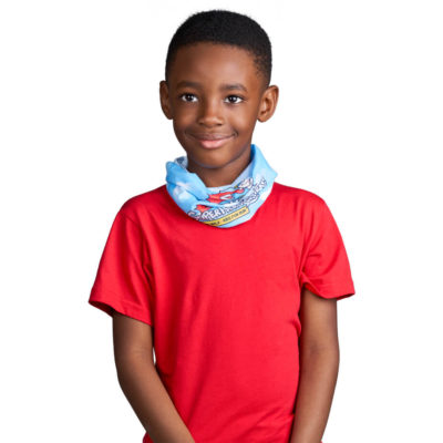 The Kids Cadence Tubular Bandana is a 100% polyester plain white banadana designed to protect against the element and germs. Can be worn a variety of ways and is washable, breathable, wind-resistant and quick drying