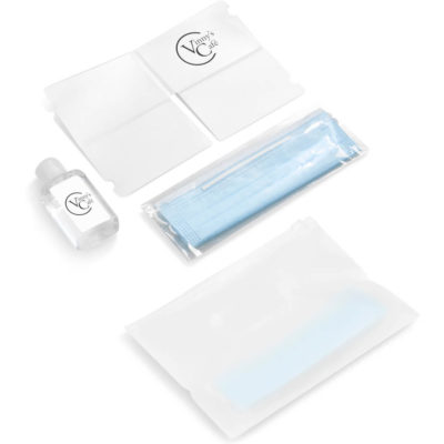 The Ebro Wellness Pack comes with a 50ml hand sanitiser that contains isopropyl alcohol > 70%. With a single-use protective face mask and comes inside a PE pouch.