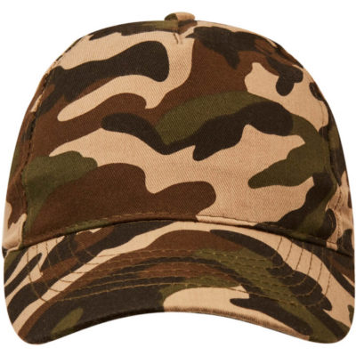 The Superior 5 Panel Camo Cap has a 5 panel structure and a curved peak.