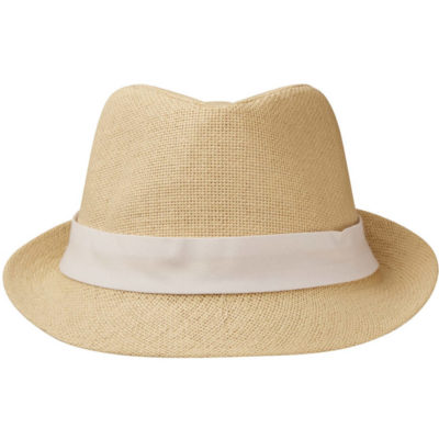 The Cuban Hat in a natural colour is made from woven straw that's lined on the inside