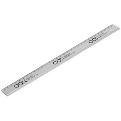 The Mastermind Aluminium 30cm Ruler in the colour silver is made from 100% aluminium with black measuring print.