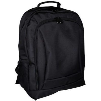 The Laptop Backpack is made from 1680D material in the colour black.