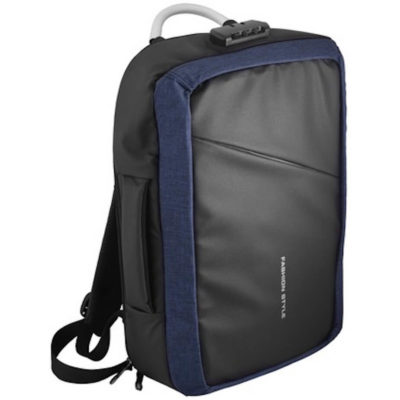 The Atom Anti-Theft Laptop Bag is made from 600D polyester with a combination Lock and concealed zippers & pockets.