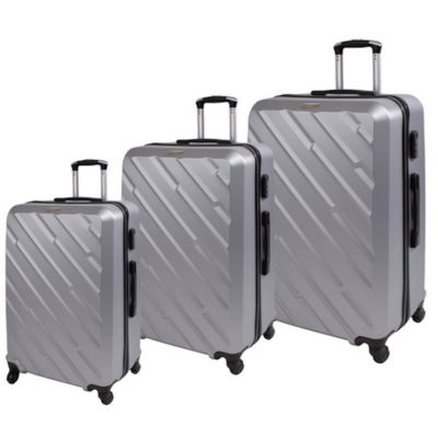The Marco Excursion Luggage Bag Set consists of a 20, 24 & 28 inch bag. That features a main zip compartment and a inner zip pocket, with a combination lock, a retraceable handle and 4 x rotatable wheels.