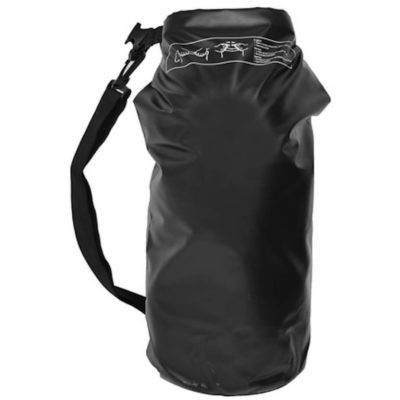 The black Waterproof Duffel Bag is made from 500D, PVC and tarpaulin material