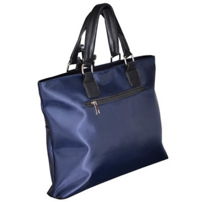 The Esteem Conference Bag is made from 600D oxford fabric in blue and features a side zip pocket with PU carry handle.