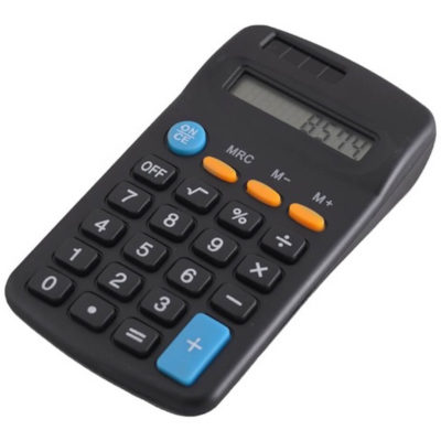 The 8 Digit Pocket Calculator has a 8 digital LCD display, in the colour black.