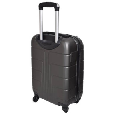 The Grey Marco Expedition Luggage Bag is a hard shell travel bag with a main zippered compartment, inner zipper pouch, strap to secure your belongings, combination lock to secure your zip, 4 rotating wheels, a side handle and a retractable aluminum handle