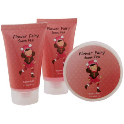 The Kids Soap and Bubble Set is a 3-piece set and includes a 50ml shower gel, 50ml bubble bath and a 60ml body lotion
