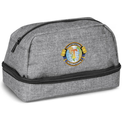 The Greyston Toiletry Bag is made from polycanvas with 190T lining and has different branding options are available.