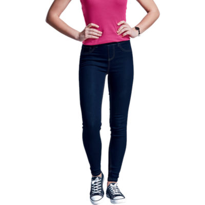 The Ladies Ella Jegging is a 290g 66% cotton, 32% polyester 2% spandex jegging with a flattering skinny leg fit. Features a back yoke panel, front curved pockets with twin needle top stitch detail, functional coin pocket, functional back pocket, mock fly stitch detail, double stitched inner legs and an elasticated waistband with 6 belt loops