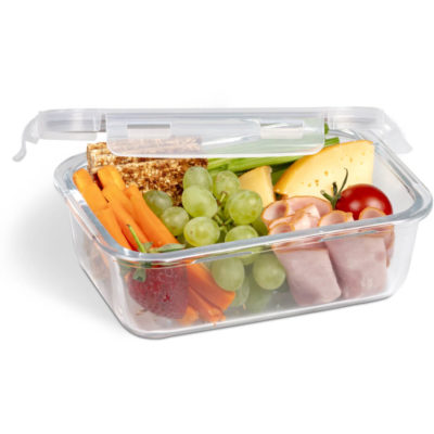The Clarion Glass Tub Food Container has a capacity of 800ml and is microwave safe.