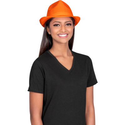 This Rumba Hat is made from a 100% bonded mesh polyester, with a one size fits most. Available in many bright colours.