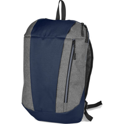 The Slazenger Wembley Backpack comes in a grey colour with navy two-tone detailing. With a front zippered pocket, adjustable shoulder straps and a carry handle