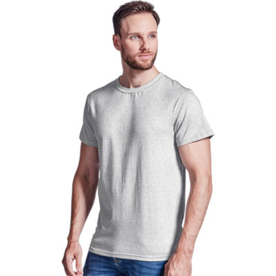 The Barron Enviro Crew Neck T-Shirt is a 160g recycled polyester cotton environmentally friendly and sustainable short sleeve t-shirt. With a single rib knit crew neckline, fitted short sleeves with double stitching hem, contrasting inner back neck binding and matching contrast stitching on back neck and shoulders