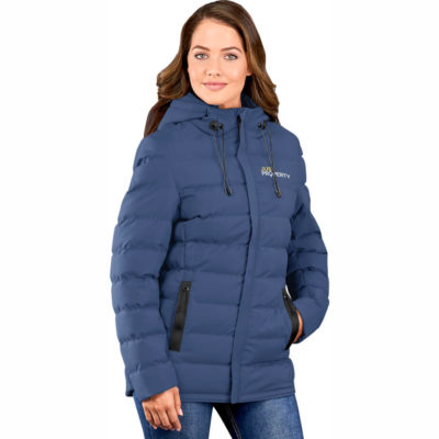 The Ladies Montana Jacket is made from 100% polyester with inner padding and a elasticated hem insert. Available in different colour and sizes.