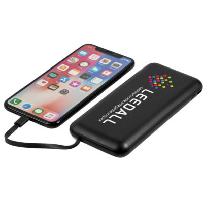The Swiss Cougar Budapest 10000mAh Power Bank is a slim rounded rectangular ABS powerbank with 10000mAh capacity and includes charging cables with Type-C, Micro USB & Lightning connectors that fit into its body to charge any device. Packaged in a pre-branded Swiss Cougar gift box